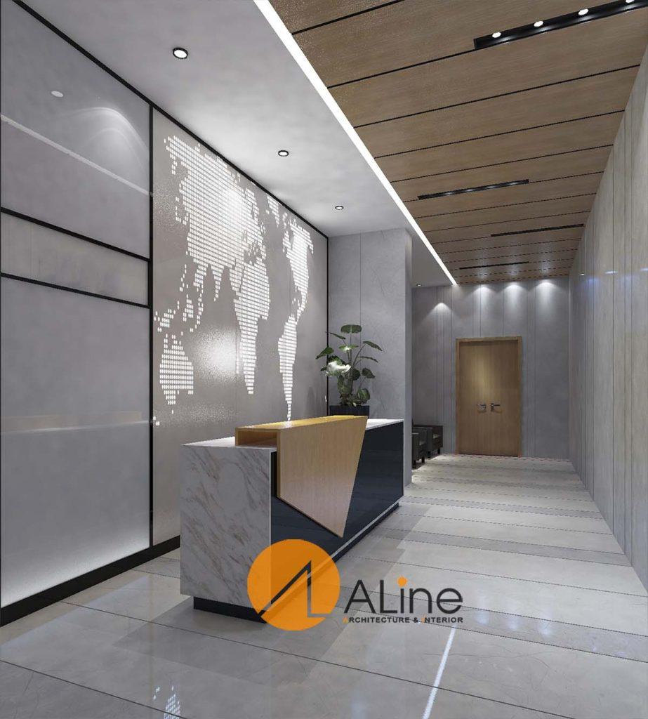 Mẫu thiết kế nội thất văn phòng đẹp - Nội thất quầy lễ tân