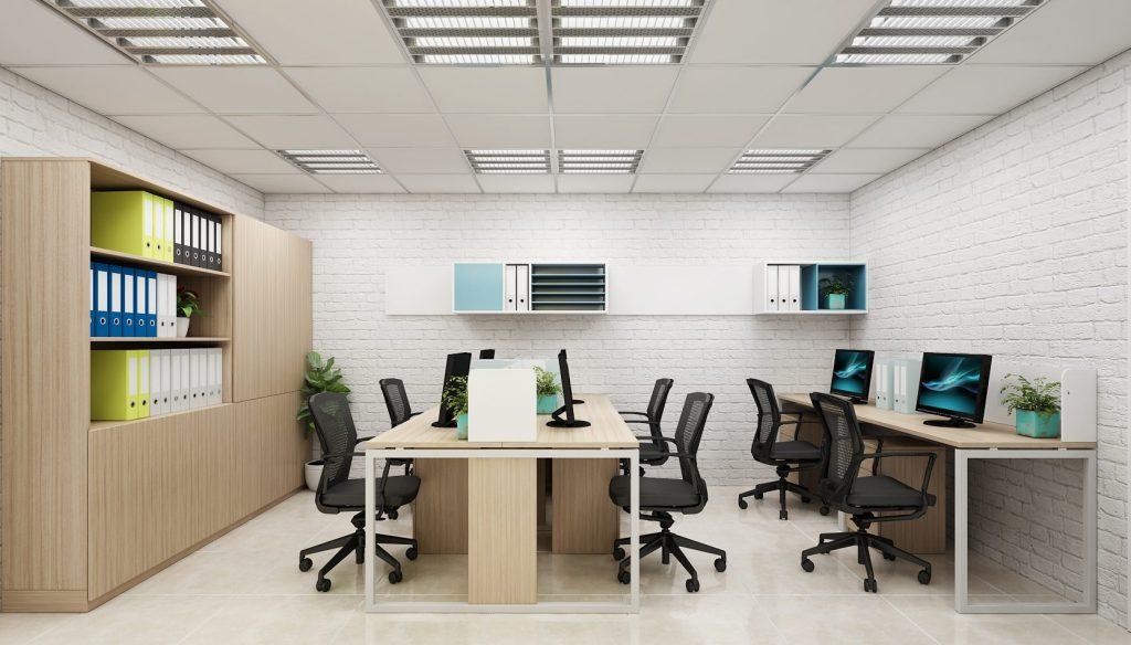 Thiết kế phòng làm việc nhỏ khoa học và hiện đại năm 2021