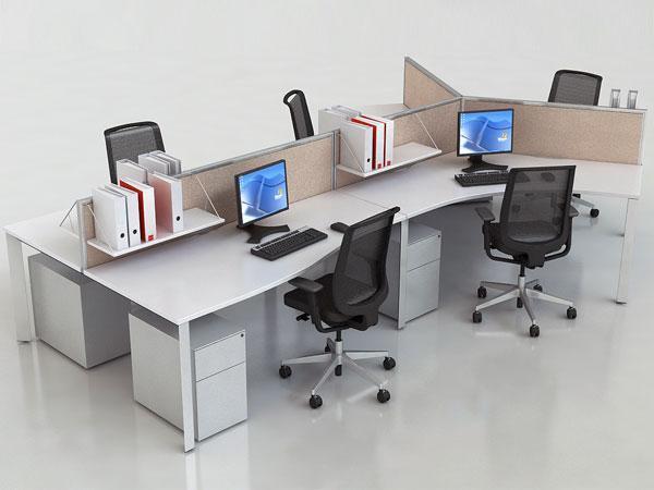 Mẫu bàn văn phòng thiết kế đẹp cho nhân viên cụm 5 người