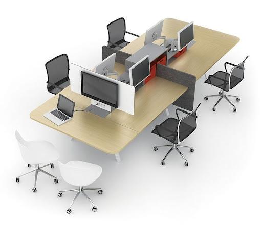 Mẫu bàn văn phòng thiết kế đẹp cho nhân viên cụm 4 người