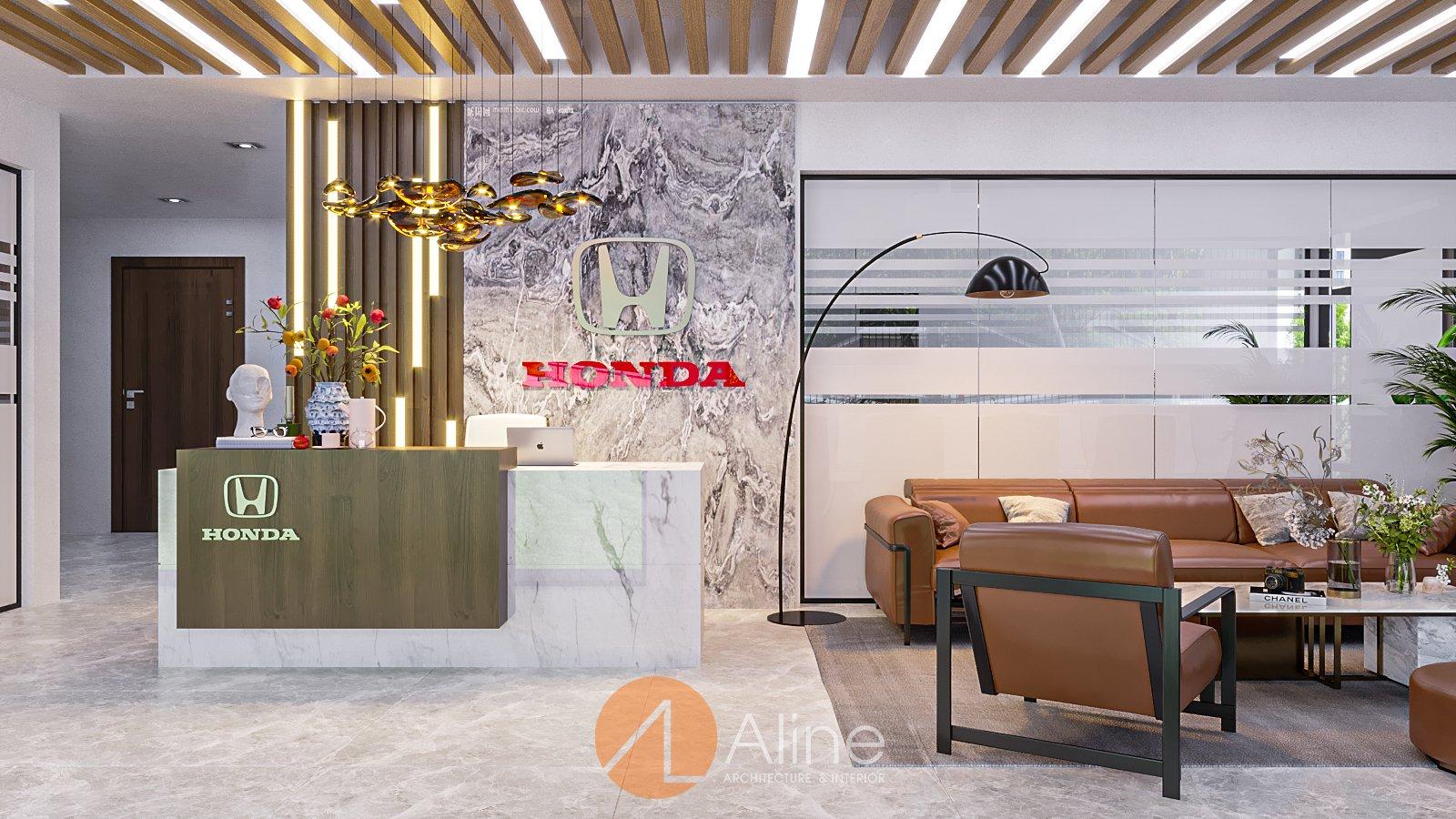 Mẫu nhà văn phòng 1 tầng công ty Honda