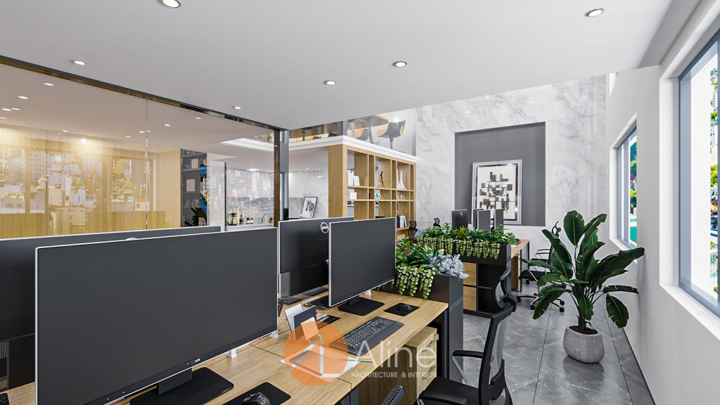 Mẫu nhà văn phòng 2 tầng hiện đại