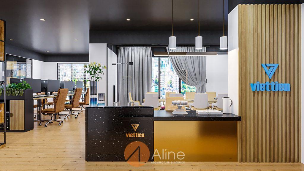 Thiết kế văn phòng nhỏ đẹp công ty Việt Tiến