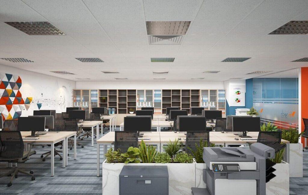 Thiết kế văn phòng làm việc 50m2 theo phong cách văn phòng mở