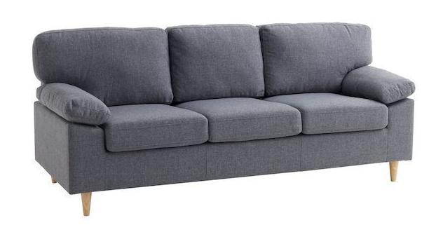 Ghế Sofa tiếp khách sử dụng chất liệu là bọc vải màu tối