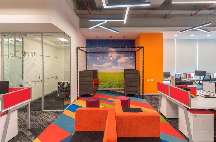 Thiết kế văn phòng làm việc công ty game GSN của Ấn Độ sử dụng nhiều màu sắc nổi bật
