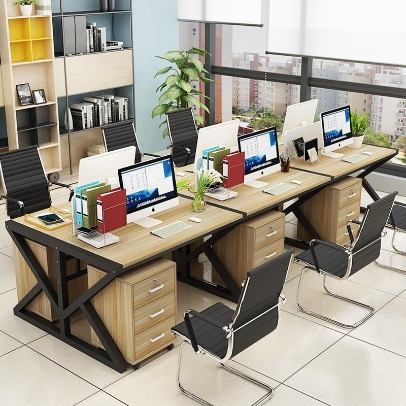 Mẫu bàn văn phòng thiết kế đẹp cho nhân viên cụm 6 người