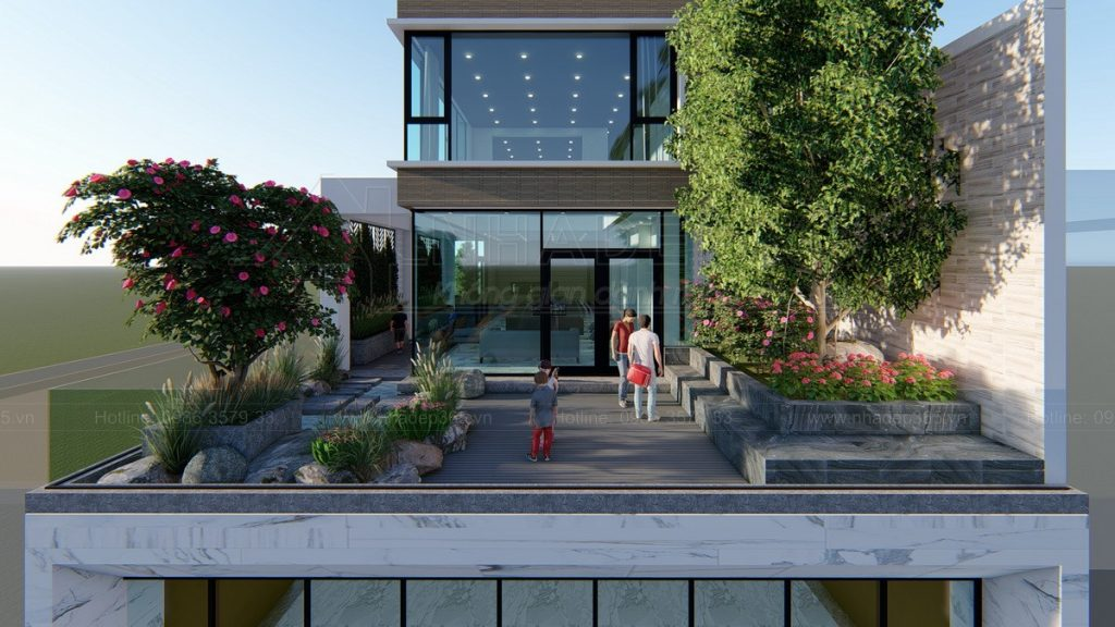 Thiết kế nhà làm văn phòng cho thuê hiện đại năm 2021
