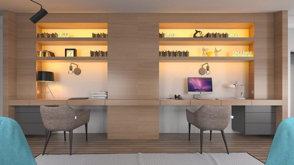 Thiết kế phòng làm việc nhỏ tại nhà độc đáo trong bối cảnh Covid-19