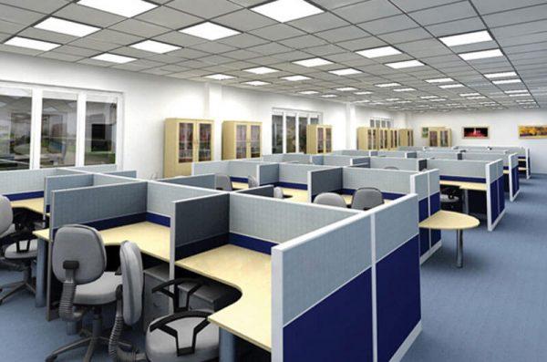 Thiết kế văn phòng nhỏ gọn 50m2 có vách ngăn để đảm bảo sự riêng tư
