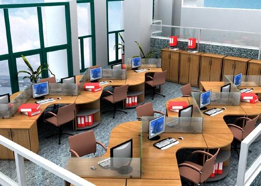 Thiết kế văn phòng nhỏ gọn 40m2