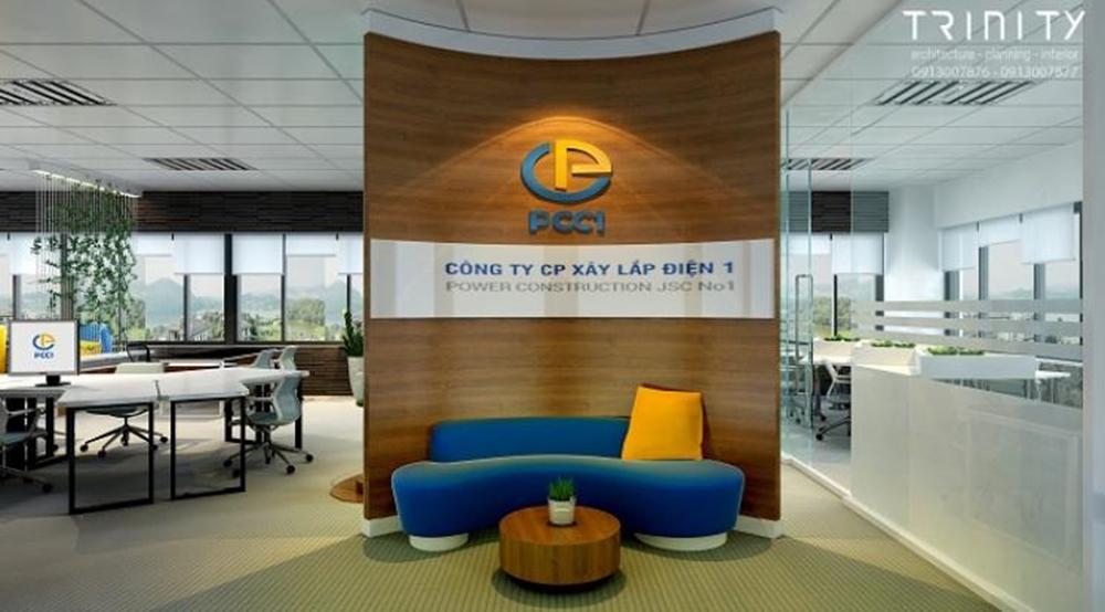 Thiết kế văn phòng làm việc 50m2 nhận diện thương hiệu