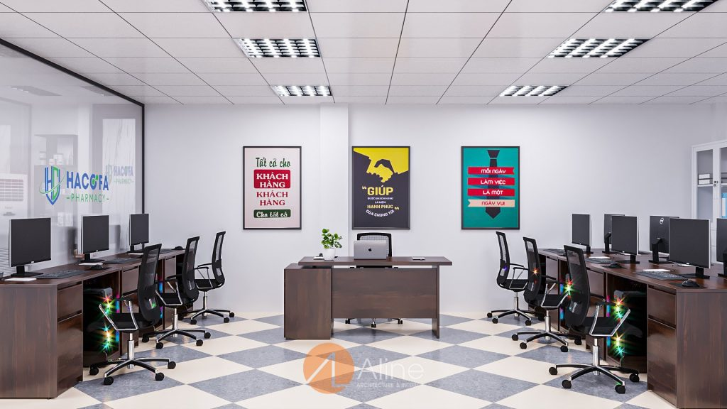 Giá thiết kế văn phòng ảnh hưởng trực tiếp bởi diện tích