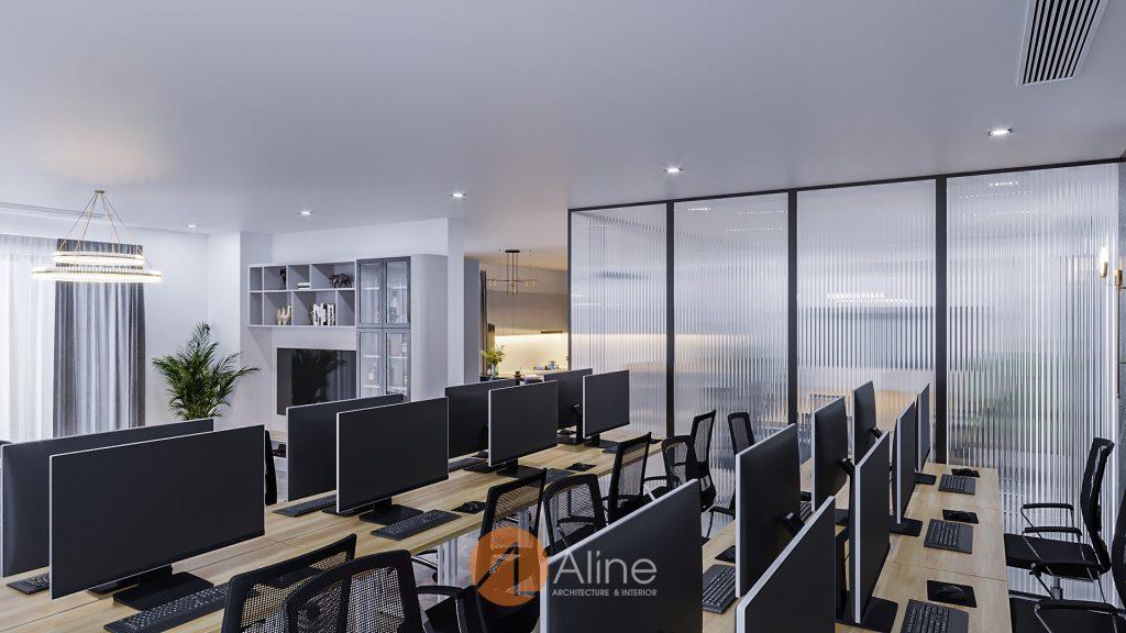 Mẫu thiết kế văn phòng kết hợp nhà ở