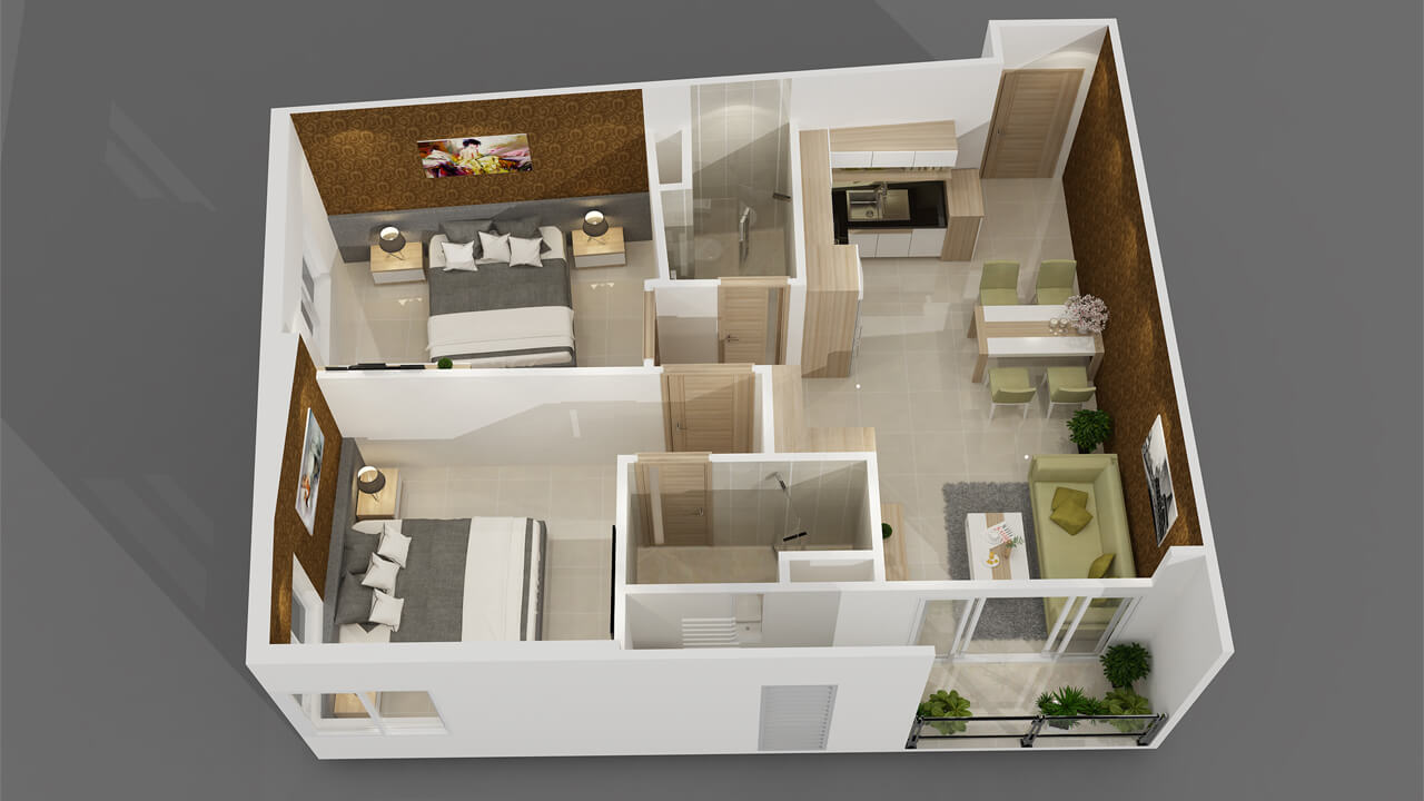 Kinh nghiệm thiết kế chung cư căn góc năm 2021