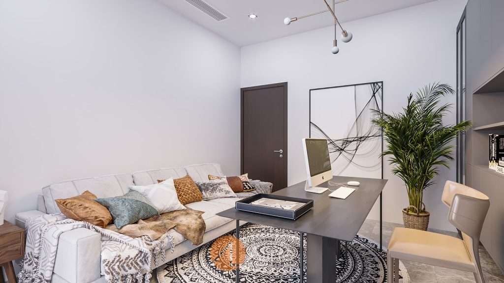 Mẫu thiết kế nội thất văn phòng kết hợp nhà ở