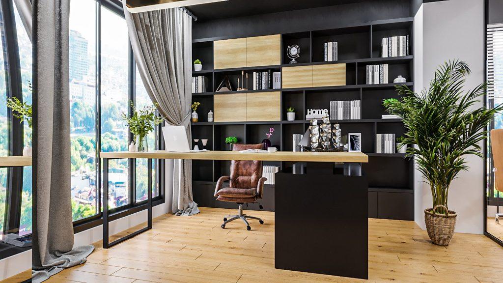 Trang trí phòng Giám đốc đẹp bằng cây xanh, lọ hoa