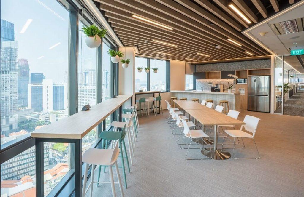 Pantry văn phòng thường được thiết kế không gian mở