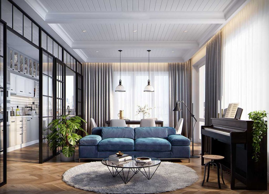 Thiết kế nội thất chung cư 100m2 hợp lý và khoa học